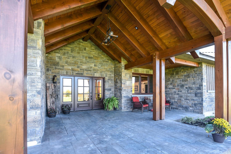 Country House Exterior Timber Frame | Renfrew Custom Home Build