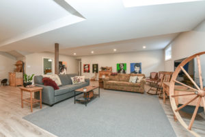Basement Family Room - Traditional Family Home Project In Renfrew by Kelly Homes Inc.