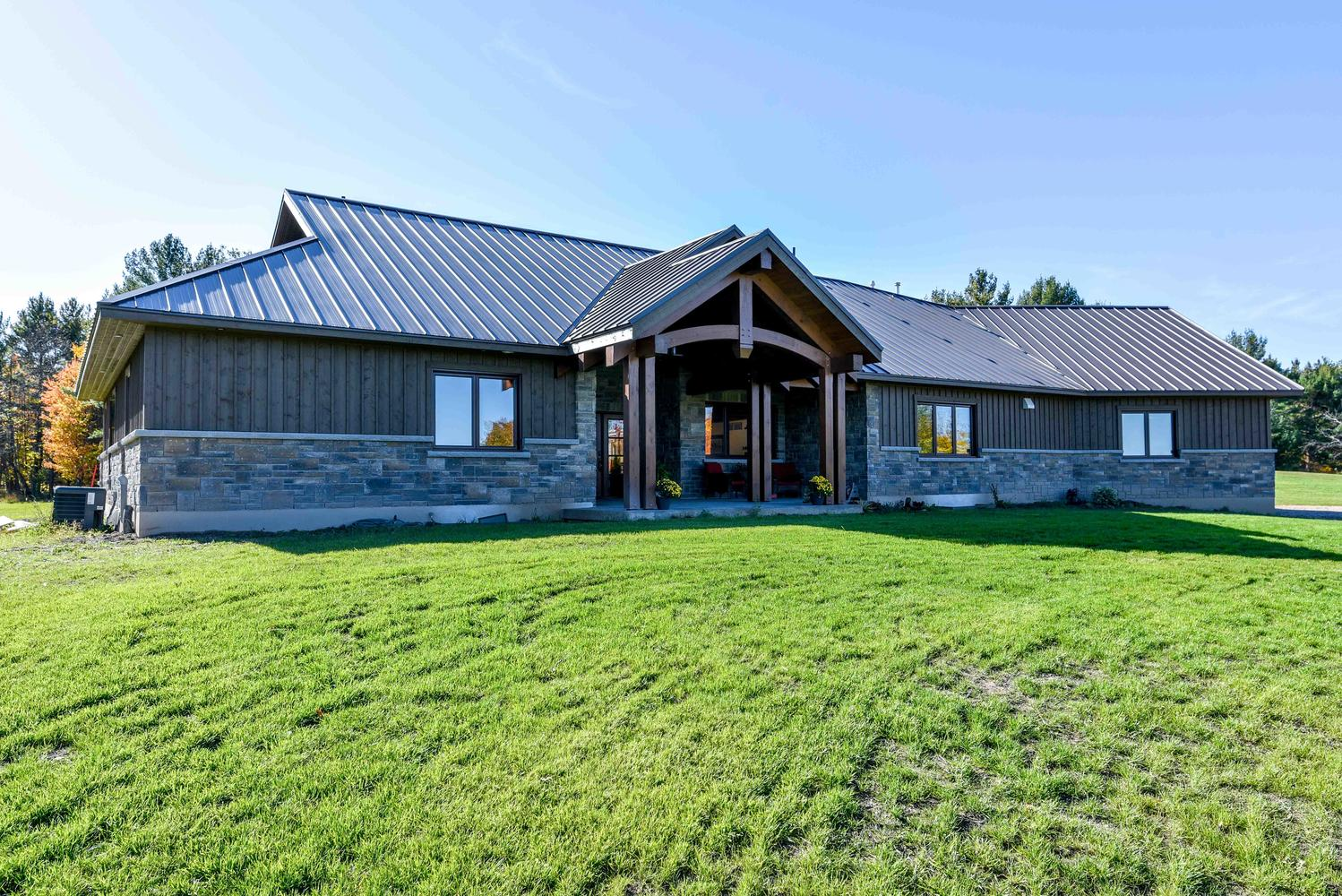 Country Traditional House Exterior | Renfrew Custom Home Build