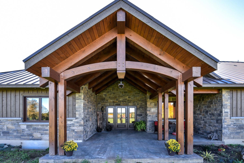 Country Traditional House Exterior | Renfrew Custom Home Build